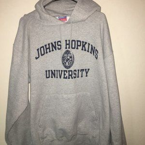 John Hopkins University Champion XL Gray Hoodie